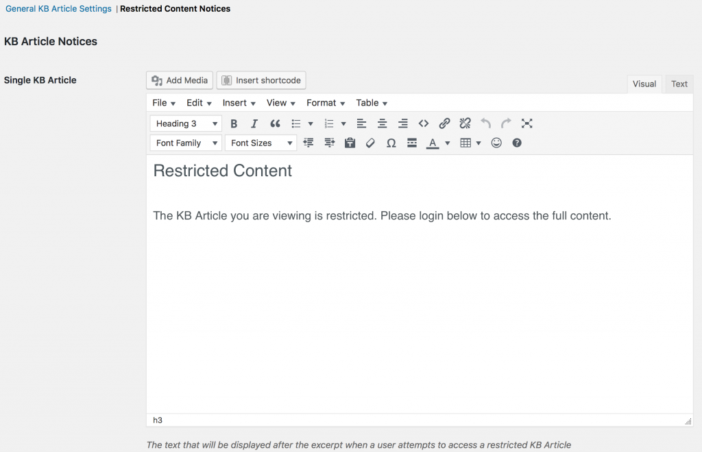 Restricted Content Notice