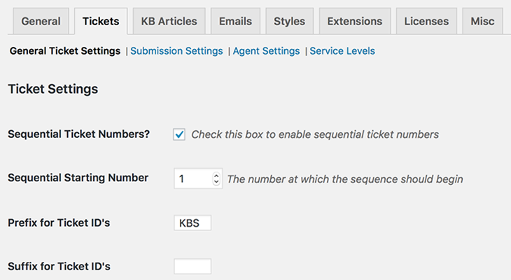 KB Support ticketing software